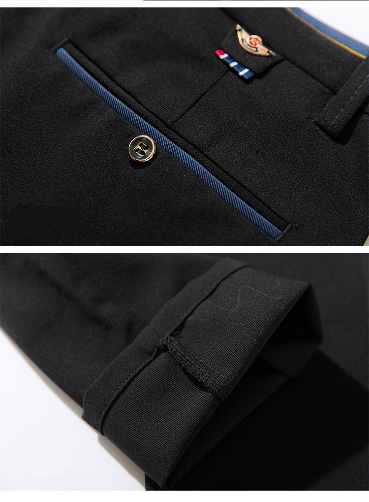 2018 Pring Summer Brand Clothing Men Casual Pants Business Slim Fit Elastic Ankle-length Pants Men's Skinny Pants Men Trousers 17