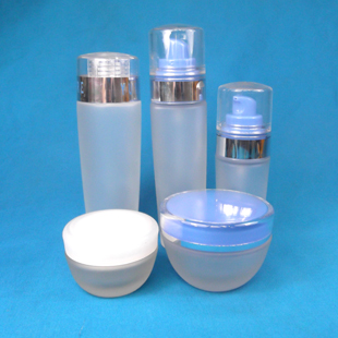 30g/50/40ml/80ml100ml Frosted bottle / Essential oil bottle /Creamjars /sky blue series cosmetics bottles overall free shipping<br>