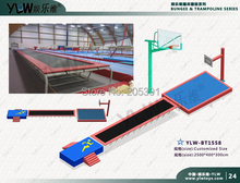 fitness sport tumble trampoline,customized amusement tumble trampoline with spong pit and basket,playground equipment