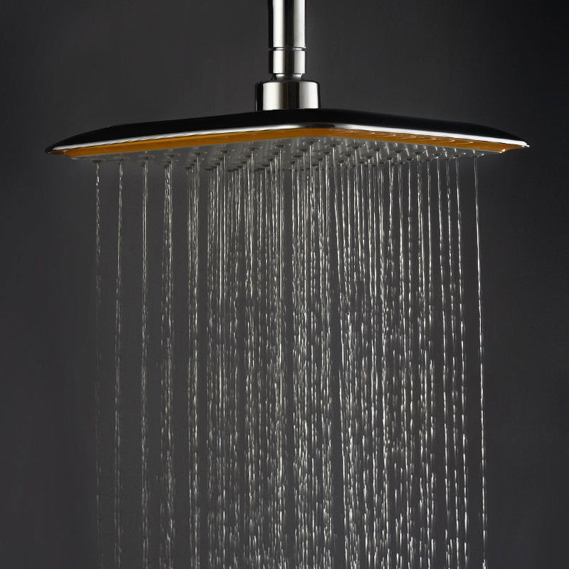 Large Square ABS Chrome Water Rains Shower Head with Extension Arm Bathroom Set for Bathroom Luxury Shower Head Mayitr