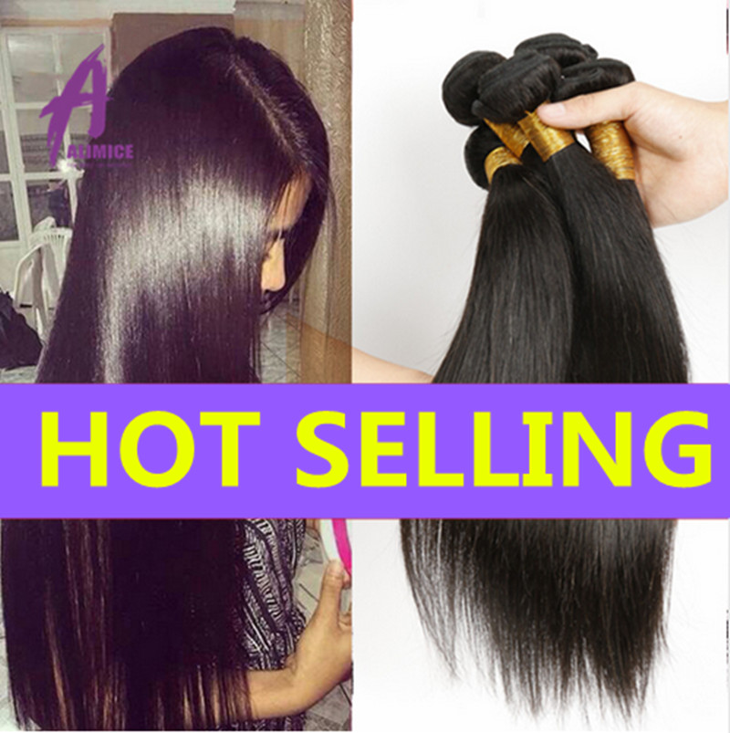 Alimice Hair Mink Brazilian Virgin Hair Straight weave 8A Unprocessed virgin Human Hair Weave 3 Bundles Brazillian Straight Hair<br><br>Aliexpress