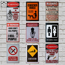 Warning Letters No Smoking 20x30cm Retro Poster Metal Tin Signs Vintage Plaque Paintings Advertising Shop Bar Garage Wall Decor(China)