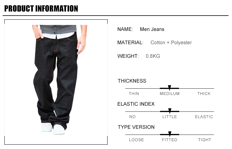 1 Spring Autumn Men Jeans Pant Fashion Designer Men Straight Pant Top Quality Big Size Loose Casual Style Jeans