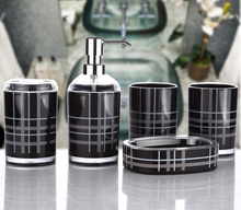 5pcs/set Bathroom Set Acrylic sets of European simple wedding gift creative Suite Bathroom wash Acrylic Ware Wedding Decoration(China)