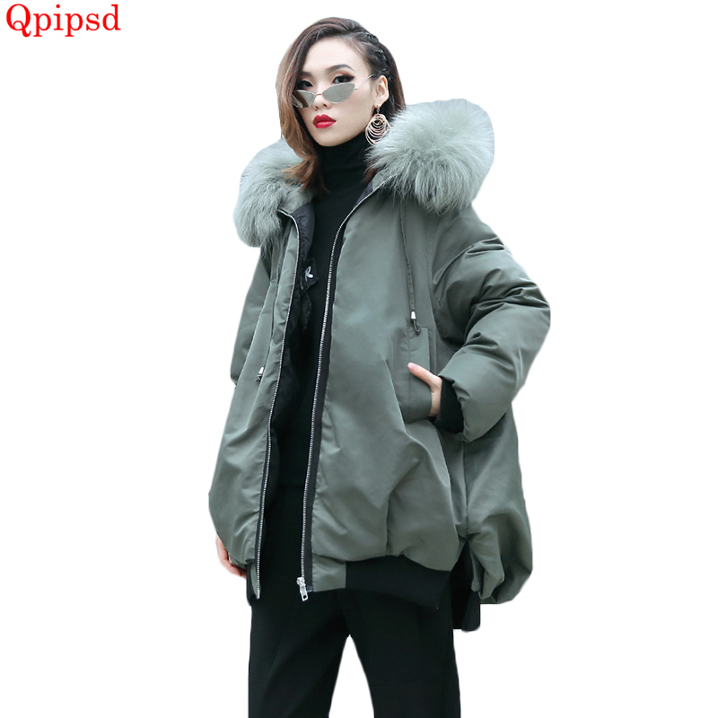 Large size womens clothes down parkas 2018 new winter coats womens thicken warm down jacket coat female loose cotton-padded coat