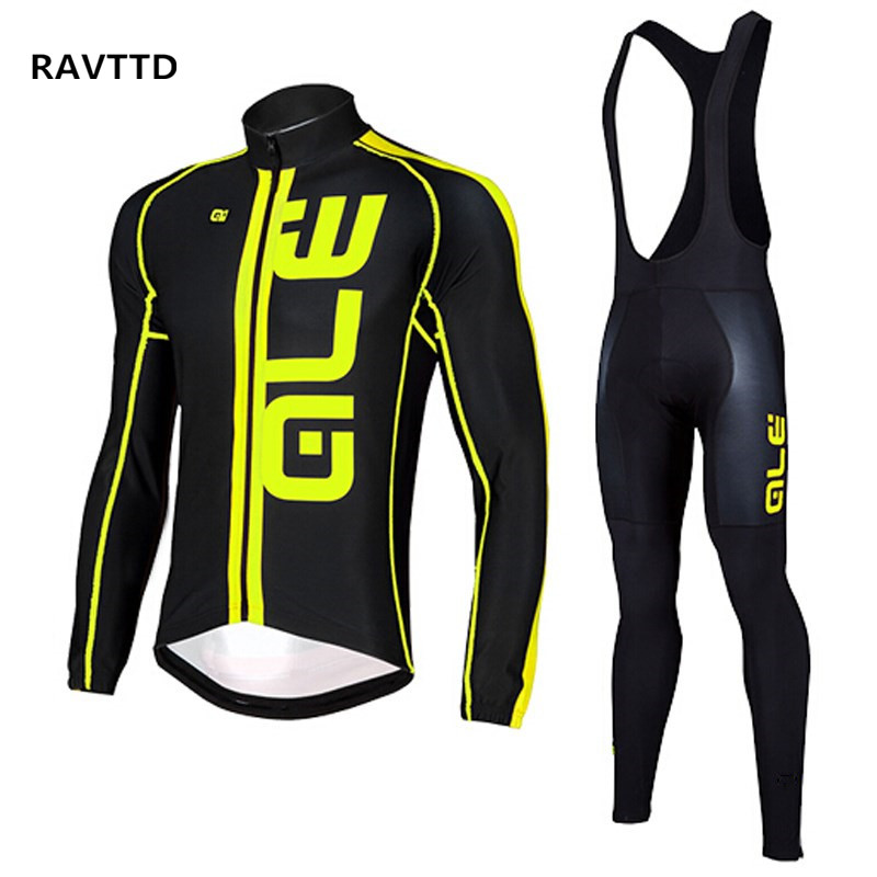 Flou Color Thermal Fleece Winter Cycling Jersey Sets Long Sleeve Outdoor Sports Bycle Cycle Clothing Quk Dry Riding Clothes<br>