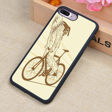 chewbacca bike Printed Phone Case Skin Shell For iPhone 6 6S Plus 7 7 Plus 5 5S 5C SE 4 4S Rubber Soft Cell Housing Cover