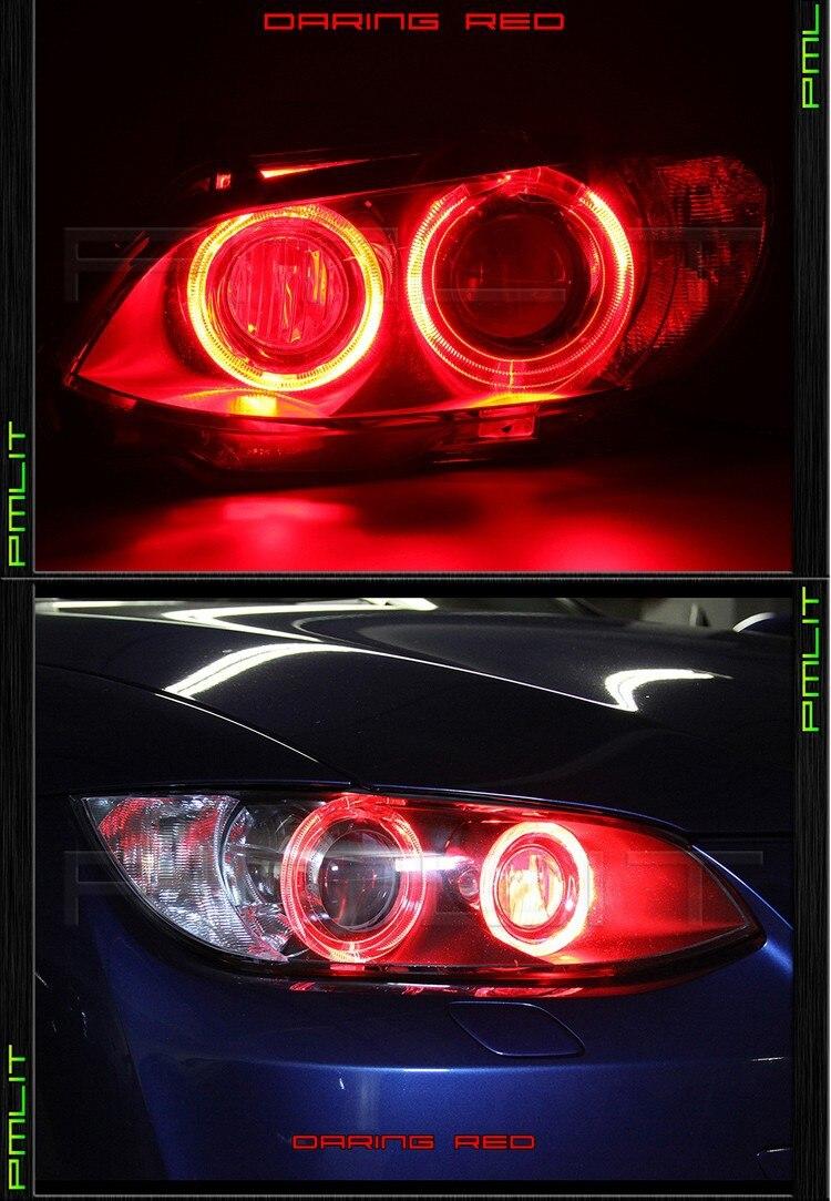 2X80mm COB Angel Eye LED Chip Car Light Super Brightness Waterproof Auto Headlight LED Lighting Lamp with Cover Free Shipping<br><br>Aliexpress