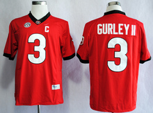 NIKE Georgia Bulldogs Todd Gurley II 3 College Ice Hockey Jerseys Limited Jerseys - White Size M,L,XL,2XL,3XL(China)