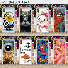 Hard Plastic Mobile Phone Cover For BQ Aquaris X5 Plus Cases Cool Skull Cute Minions Flower Wholesale Cell Phone Bags Housings