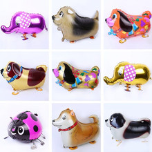 Cute Animal Walking Balloons Elephant Pet Dog Rabbit Ladybug Foil Balloons Children Toys Birthday Party Decor Supplies Christmas(China)