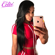 Celie Brazilian Virgin Hair Straight Bundles 1Piece Unprocessed Weave Human Hair Bundles Natural Color Can be dyed Free Shipping