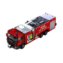 KDW 1:50 Heavy Rescue Fire Water Fire Engine Truck Diecast Model