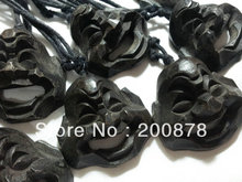 TNL249 Black Peach carved Mile Amulets pendants necklace 43*40mm Lovely Buddha Mask Craft souvenirs