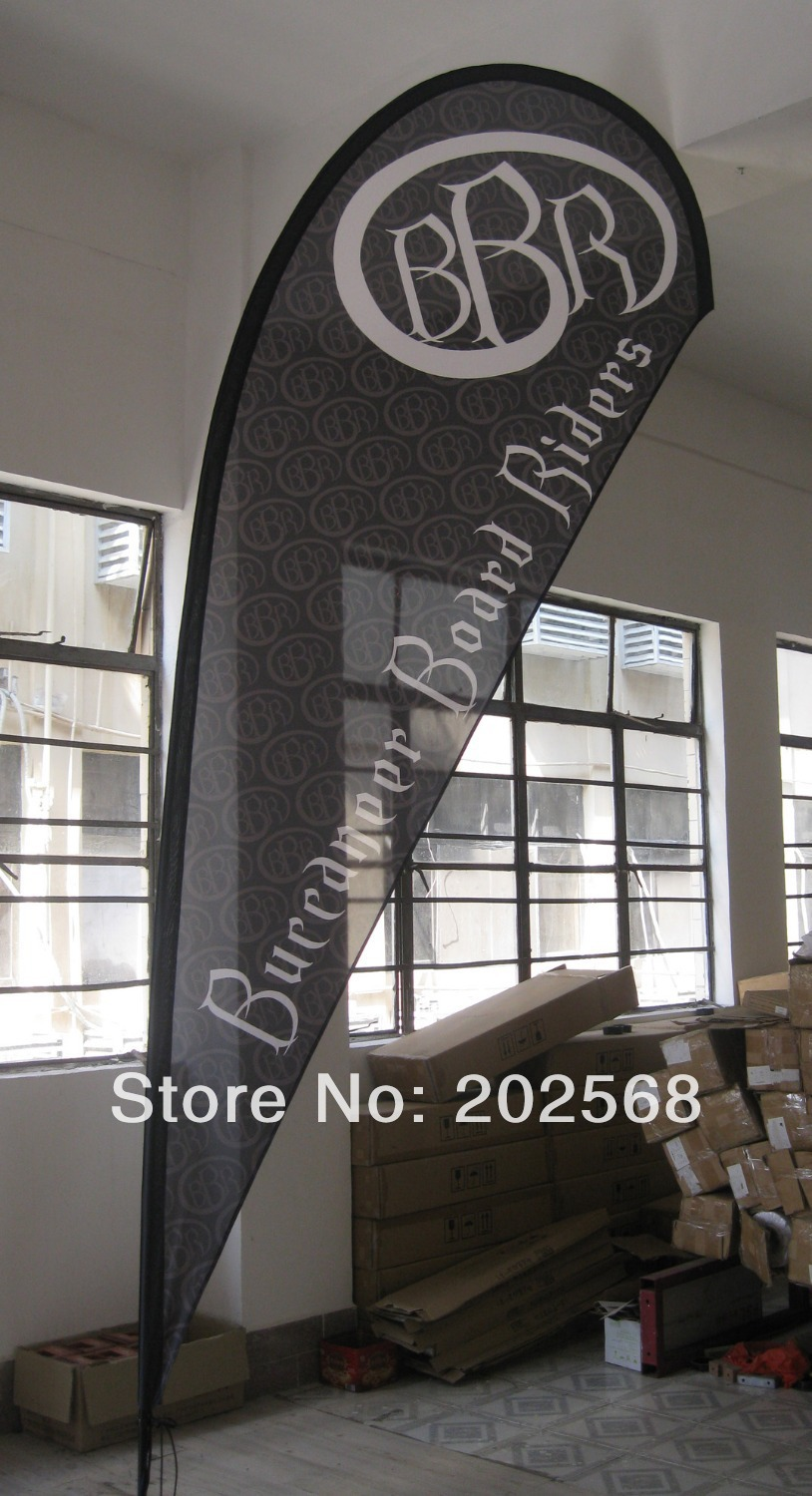 Medium Size Teardrop Flag Banner (Full set)-Free Shipping to USA,CANADA,WEST Europe and Australia(China (Mainland))
