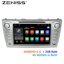 Free shipping 8inch 2GB RAM DDR3 Android Car DVD Player for Toyota Camry v40 2007-2011 support TPMS Alarm DAB OBD DVR