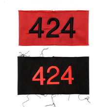 424 Emboridery Swag Badge Kanye Pablo Armband Hip Hop Arm Warmers I Feel Like Pablo Red And Black