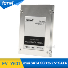 "New Fenvi mSATA Mini Pci-e SSD to 2.5"" 2.5 inch SATA Converter Adapter External Case Caddy High Quality(China)"