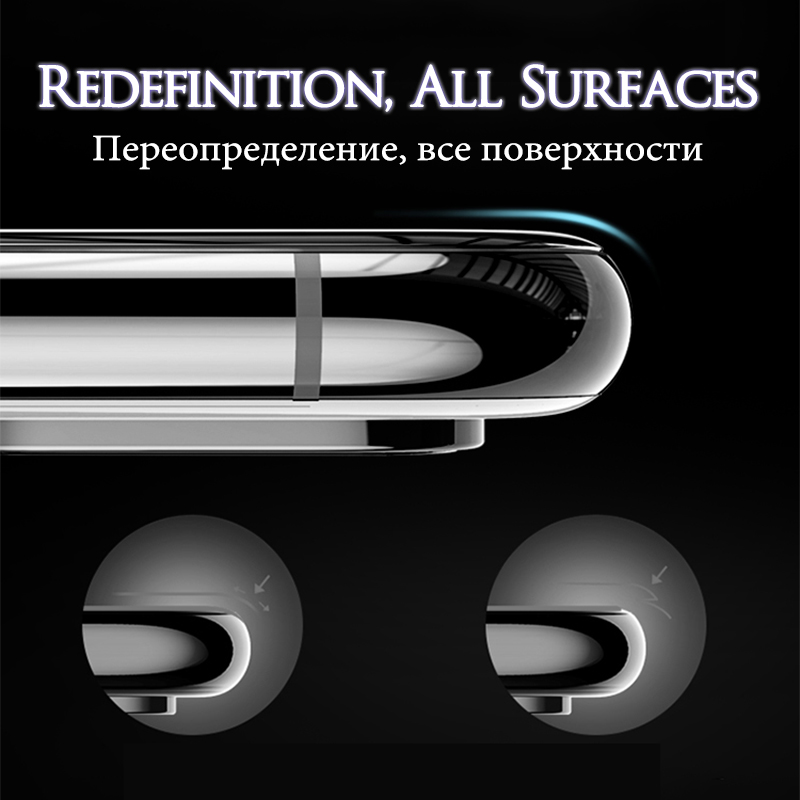 TOMKAS Glass For iPhone XS Glass Case For iPhone X Xs Max XR Screen Protector 6D Protective Glass on the For iPhone 6 S 7 8 Plus