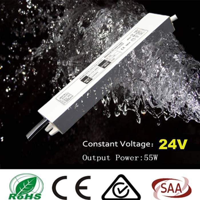 5pcs/lot 55W 110V-240V to DC 24V IP67 Led Transformer Power Supply LED Driver Adapter for Christmas Strip Light Outdoor<br><br>Aliexpress