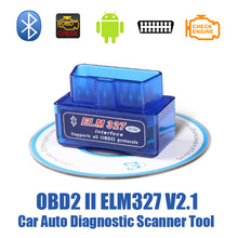 Eml 327 V2.1 Bluetooth OBD 2 Car Diagnostic Scan Tool Support 7 OBDII Protocols Smart Scan Tool ODB2 Scanner Tool Free Shipping