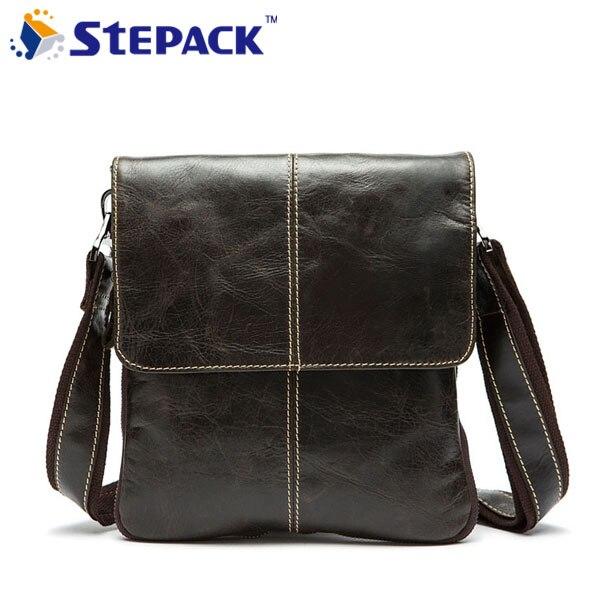2017 New Arrival Genuine Leather Men Messenger Bag Vintage Shoulder Crossbody Bag Leisure Style Simple Design<br>