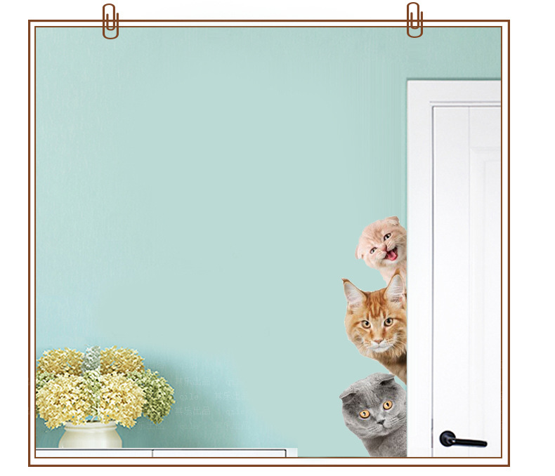 Cats 3D Wall Sticker Funny Door Window Wardrobe Fridge Decorations for Kids Room Cats 3D Wall Sticker Funny Door Window Wardrobe Fridge Decorations for Kids Room HTB1FwvYXI2vU1JjSZFwq6x2cpXaB