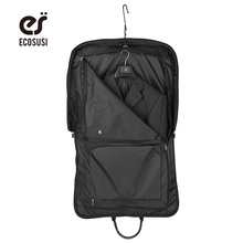 ECOSUSI New Travel Bag High Quality Suit Bag Black Fold Garment Men's Travel Bags With Zippered Pocket Portable Storage Bag