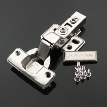 Stainless steel Concealed buffering hydraulic Kitchen Cupboard Cabinet hinge door hinge Full Overlay Clip On Oil Damper hinges