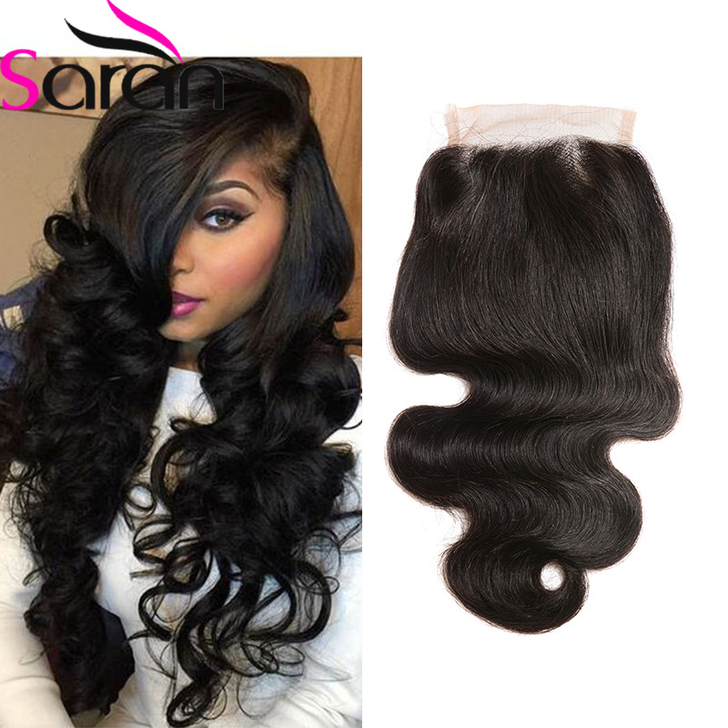 7A Brazilian Virgin Hair Lace Closure Brazilian Body Wave Closure 5x5 Lace Closure With Bleached Knots  Rosa Queen Hair Products<br><br>Aliexpress