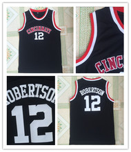 TBA 2017 Cincinnati Bearcats College Basketball Jerseys,#12 Oscar Robertson Jersey Cheap Throwback Black Basketball Jersey(China)