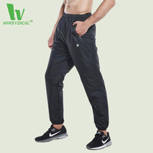 VANSYDICAL Running Jogging Pants Men Sportswear Fitness Sports Basketball Sweatpants Gym Trousers Loose Training Polyester Pants(China)