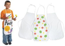3PCS/LOT.Paint unfinished canvas apron,38x59cm.Early learning educational toys.Kids DIY.Drawing toys.Wholesale.Crafts.
