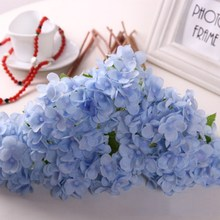 Artificial Fake Silk Flower Hydrangea Leaf Artificial Flowers Silk Bouquets For Home Party Wedding Decoration Hydrangea Flower