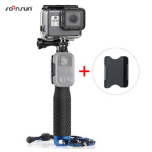 "SOONSUN Portable Mini 19"" Aluminum Selfie Stick Pole Extendable Monopod w/ WiFi Remote Mount for GoPro HERO6 5 4 3+ 3 2 Session(China)"