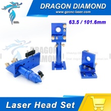 CO2 Laser Head Set D20mm Lens FL63.5mm+D25mm Mirror Integrative Mount Houlder for Laser Engraving Cutting Machine