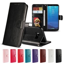 Coque for Samsung S5 Case for Samsung Galaxy S5 Neo S3 S4 Mini S6 S7 Edge S8 Plus Cover Flip Wallet Leather Silicon Hoesje Etui(China)