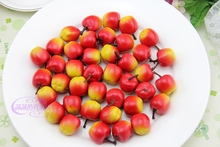 Hot Sale Simulation Plastic Mini Apples Fake Fruits Model Children Early Learning Photography Equipment Home Decoration PL(China)