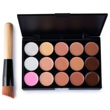 15 Colors Contour Cream Professional Makeup Concealer Palette with Makeup Brush Face Foundation Facial Contouring Cosmetic Party(China)