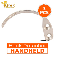3Pcs/lot Hook Detacher Security Mini Detacher Hook Metal Handheld Used for The Hard Tag Series The EAS System(China)