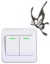 Wall switch sticker refrigerator Korea creative cartoon cute fashion home decorative Butterfly