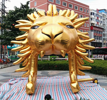 Free shipping 5m high Golden giant inflatable lion for outdoor activities