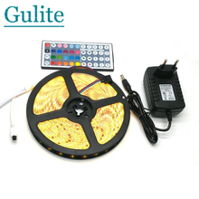 IP65 Waterproof 5050 RGB 5M LED Strip Set + 44Keys IR Controller + 12V 3A Power Adapter Flexible Tape Home Decoration Lighting