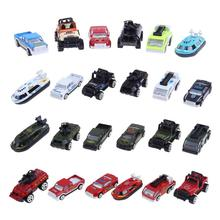 6Pcs/Set Mini Alloy Vehicles Model Toy Portable Multi-type Military Engineering Cars Model Vehicle Educational Toy for Boys Gift(China)