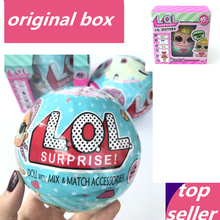 LOL Surprise Doll Boneca Funny Dolls Toys for Children Girl Gift Series 1 & Series 2 Novelty Randomly Sent boneca lol doll egg(China)