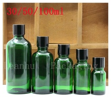 Wholesale 30/50/100 ML Green Glass Essential oil Bottle, Female Beauty Gadgets, Empty Cosmetic Packaging Bottle ,Personal Care