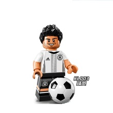 Single Sale KL003 Super Heroes Germany Football Team Manuel Coach Super Heroes Bricks Building Blocks Toys for children KL9001