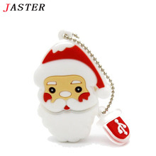 JASTER USB flash drive Santa Claus USB stick 4G flash drive 8G Christmas gift flash usb 16G 32G pendrive with Chain gifts