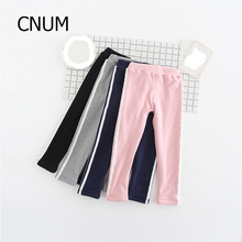 CNUM Kids Girls Leggings Cotton Pants Autumn Elastic Waist Girls Teenage Autumn Boys Sports Pants Winter Slim Girls Trousers(China)