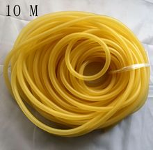 5*7mm 4*6mm 3*5mm 2*5mm Natural Latex Rubber Tube 10m Tubing Slingshot Hunting Catapult Elastic Fitness Bungee Resistance Bands